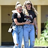 Miley Cyrus and Kaitlynn Carter in LA on Sept. 14, 2019