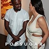 Kanye West Can't Keep His Eyes Off of Kim Kardashian
