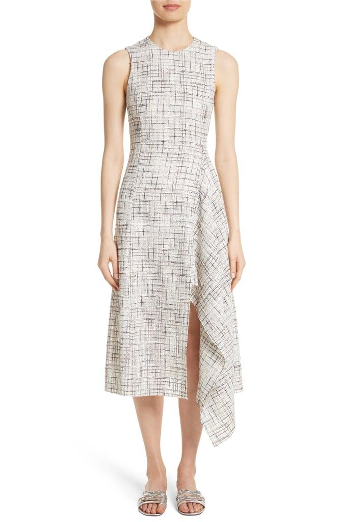 Rosetta Getty Draped Tweed Dress
