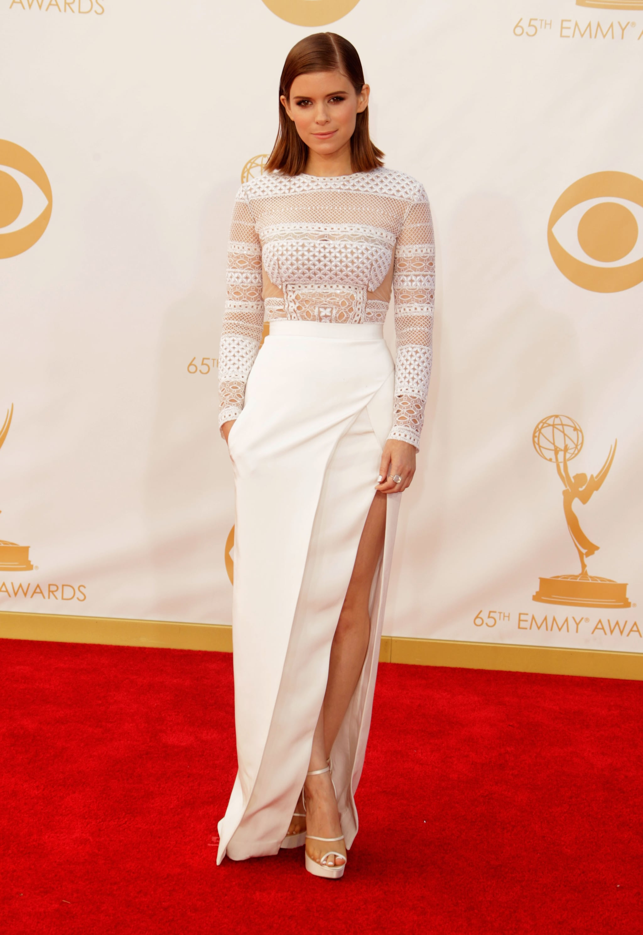 Kate Mara stepped out for the 2013 Emmy Awards.