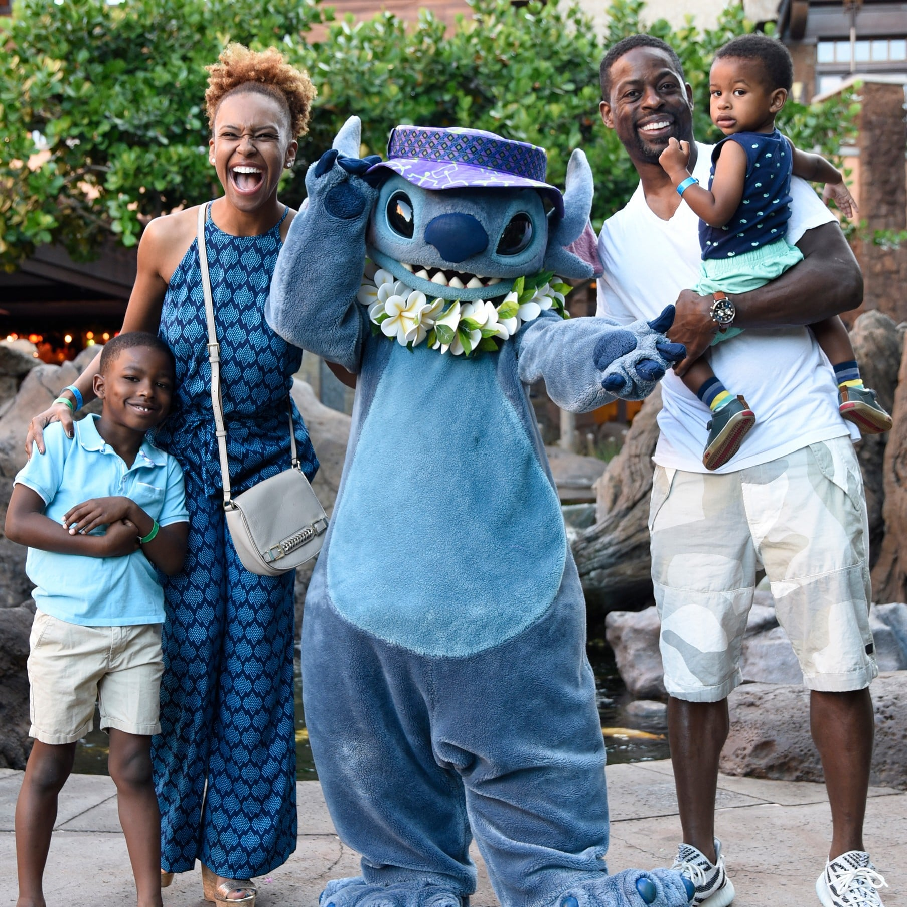 Sterling K. Brown and Family at Disney\'s Aulani Resort 2017 ...