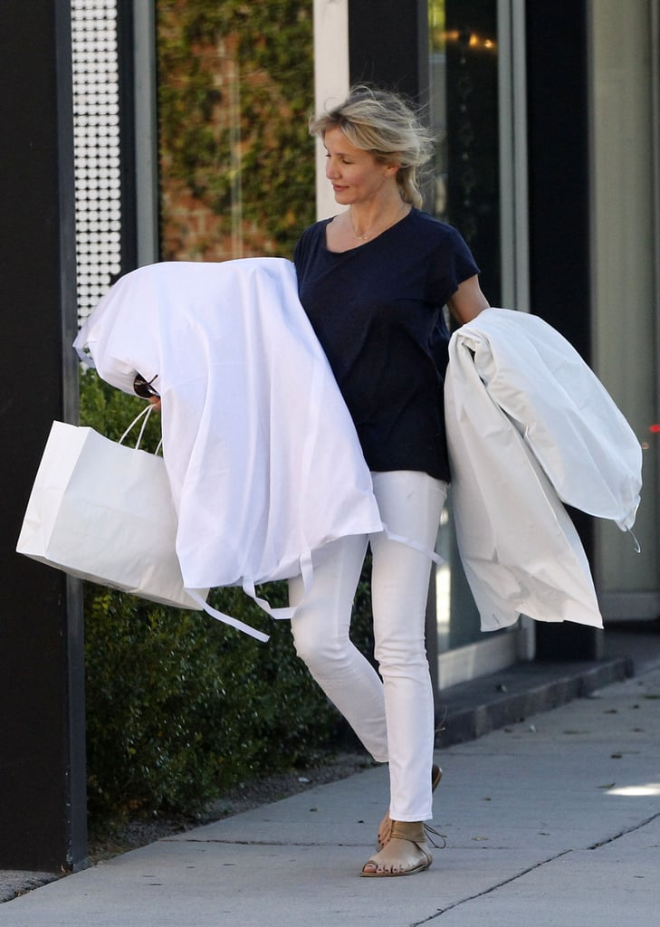 Cameron Diaz Breaks From Shooting and Socializing to Shop