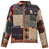 Bode Patchwork single-breasted wool jacket