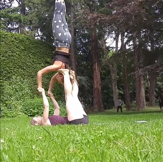 AcroYoga Video Backflip Against a Tree
