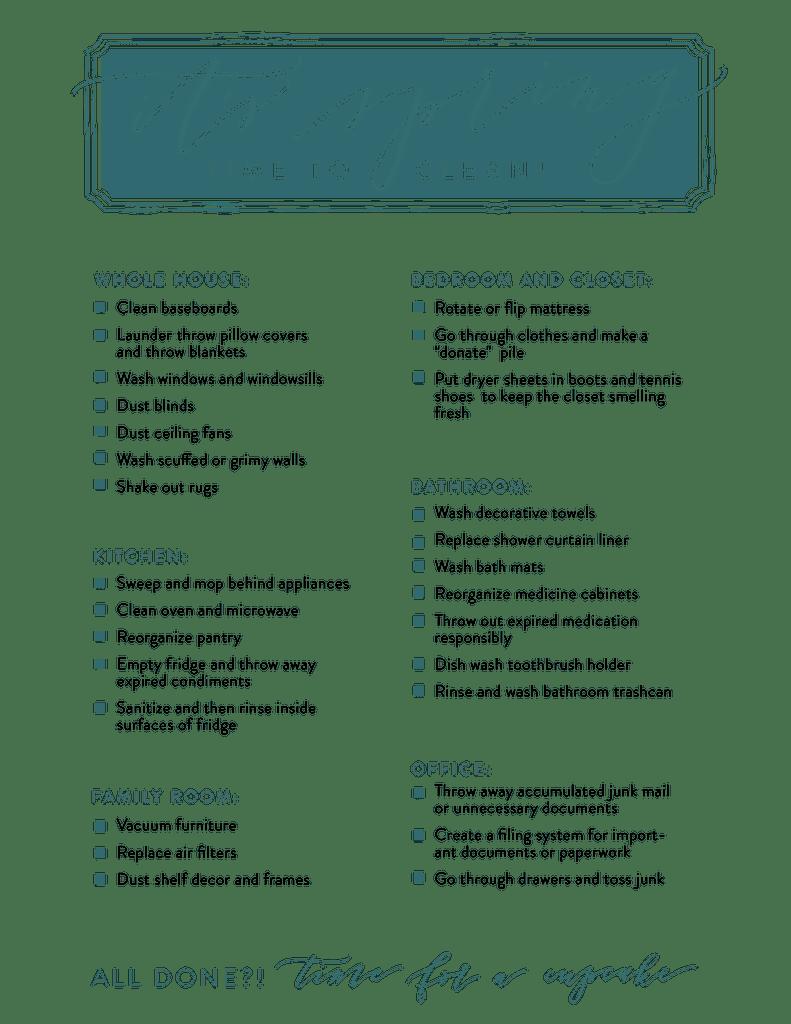 Download: Magnolia Market Spring Cleaning Checklist