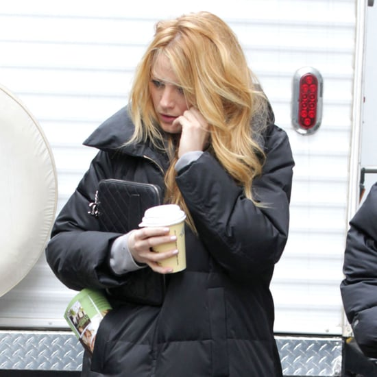 Blake Lively on Set of Gossip Girl in NYC Pictures