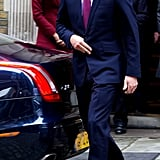 Prince William looked dapper as he walked to the car.