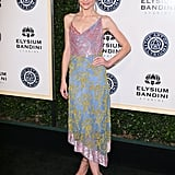 Jaime King channeled the '90s in an Altuzarra slip dress and Jimmy Choo heels at the Art of Elysium gala.
