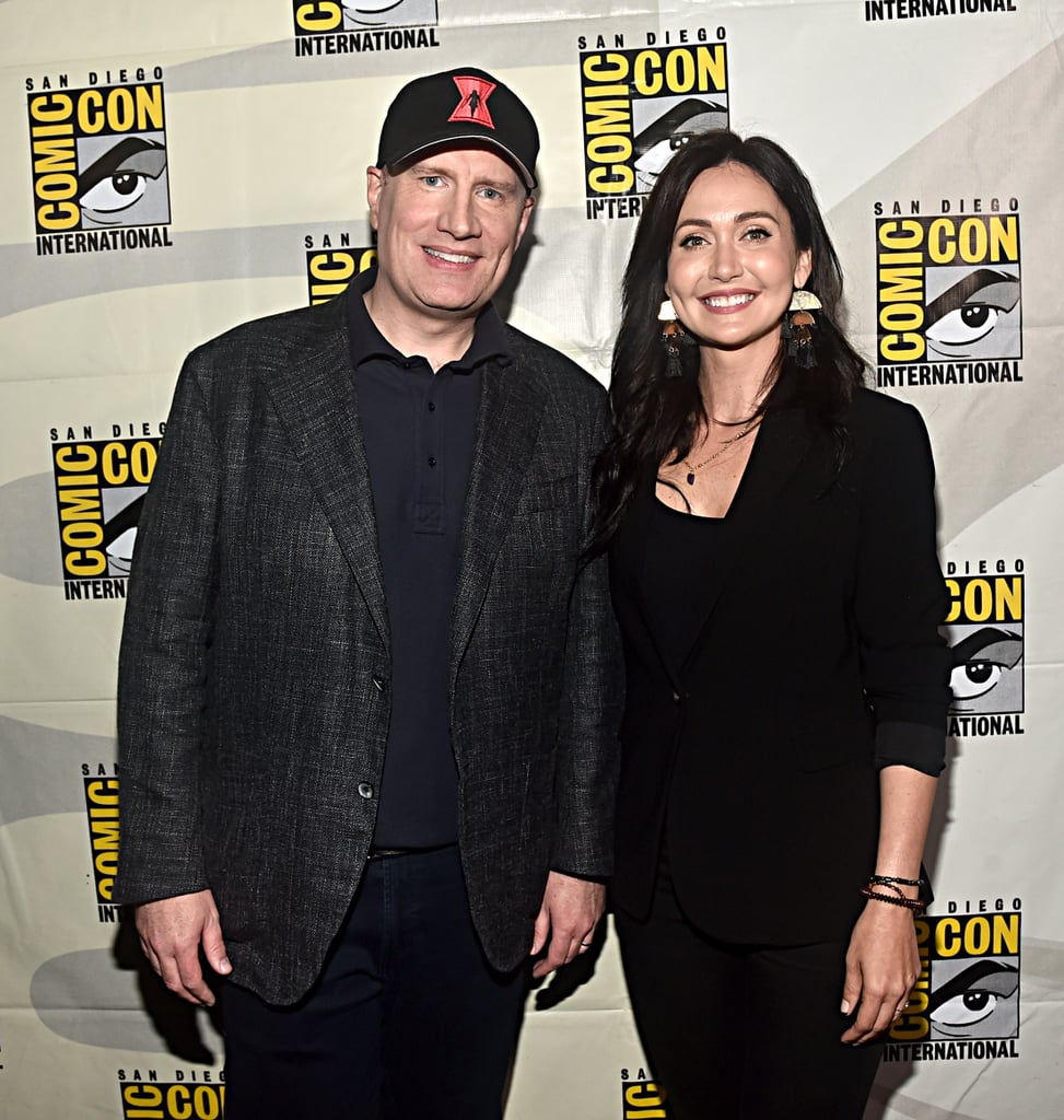 Pictured: Kevin Feige and Jessica Chobot at San Diego Comic-Con.