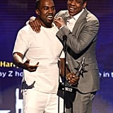 Jay-Z and Kanye West accepted an award together at the BET Awards in LA.