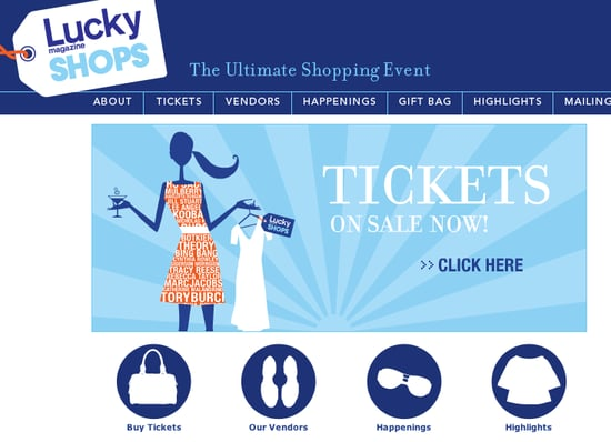 Sale Event Reminder: Lucky Magazine Shops