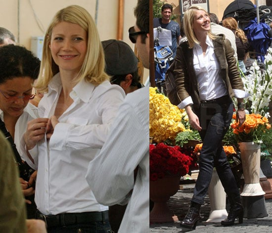 Gwyneth Paltrow Films an Ad in Rome, Italy
