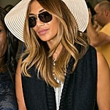 Even a huge hat and sunglasses couldn't hide the perfect blow-dry as Nicole arrived at Nice airport for the Cannes Film Festival.