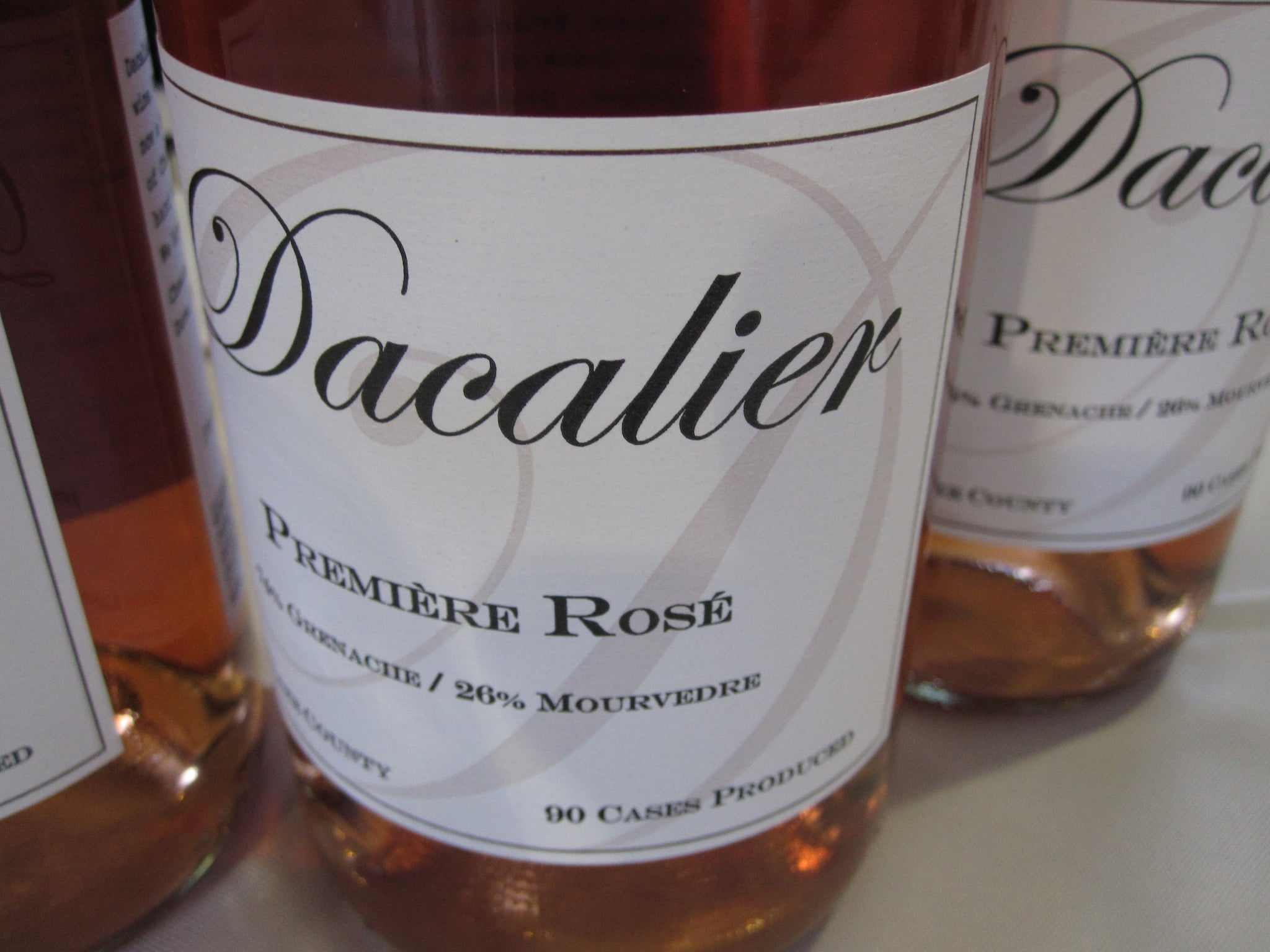 Dacalier's Rose has been winning a lot of awards. After one sip of the bone-dry, fruity Rose, I understood why!