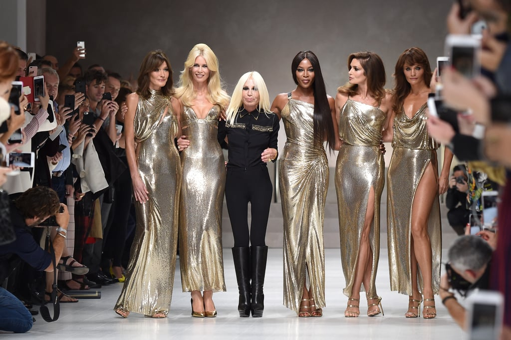 Donatella Versace Brought Back the Original Gang of '90s Supermodels