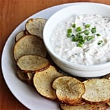Baked Cracked-Pepper Potato Chips With Onion Dip