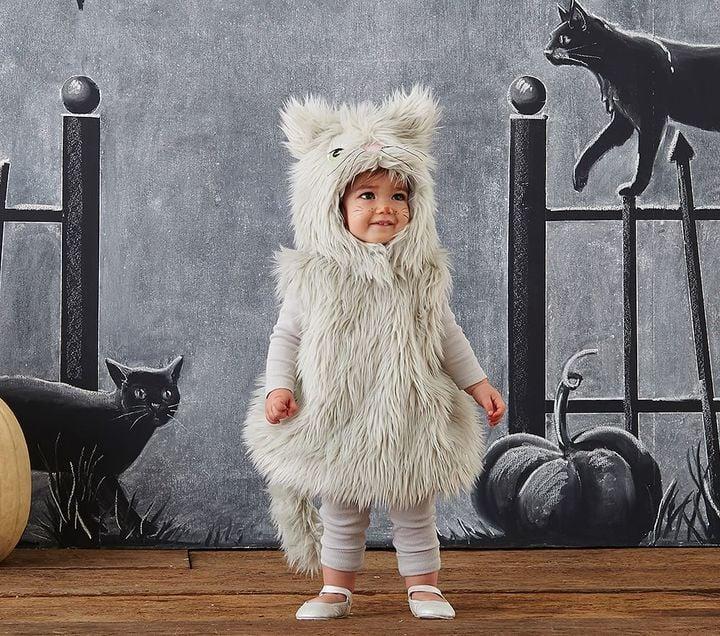 Gray Puffy Kitty Costume
