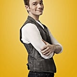 Chris Colfer as Kurt on Glee.