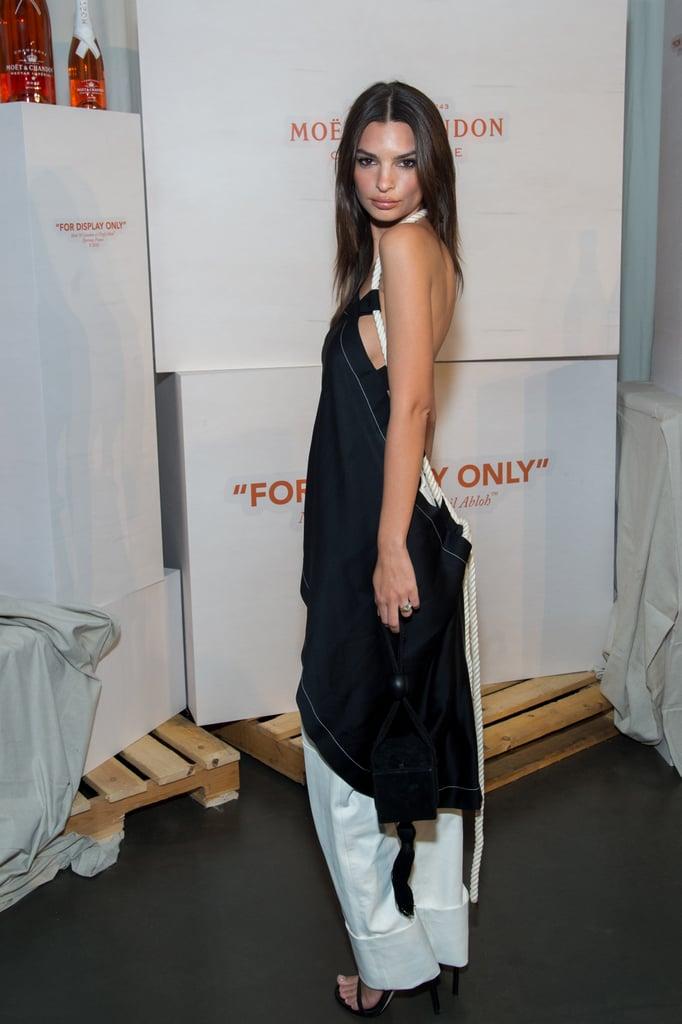 Emily Ratajkowski Dress With White Pants