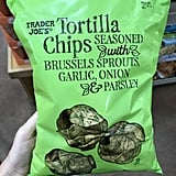 Trader Joe's Tortilla Chips Seasoned With Brussels Sprouts, Garlic, Onion, and Parsley ($3)