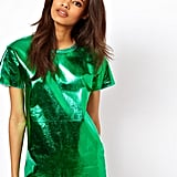 If you're on the hunt for a festive look that is a cut above the rest, check out this emerald foiled ASOS tee ($38).