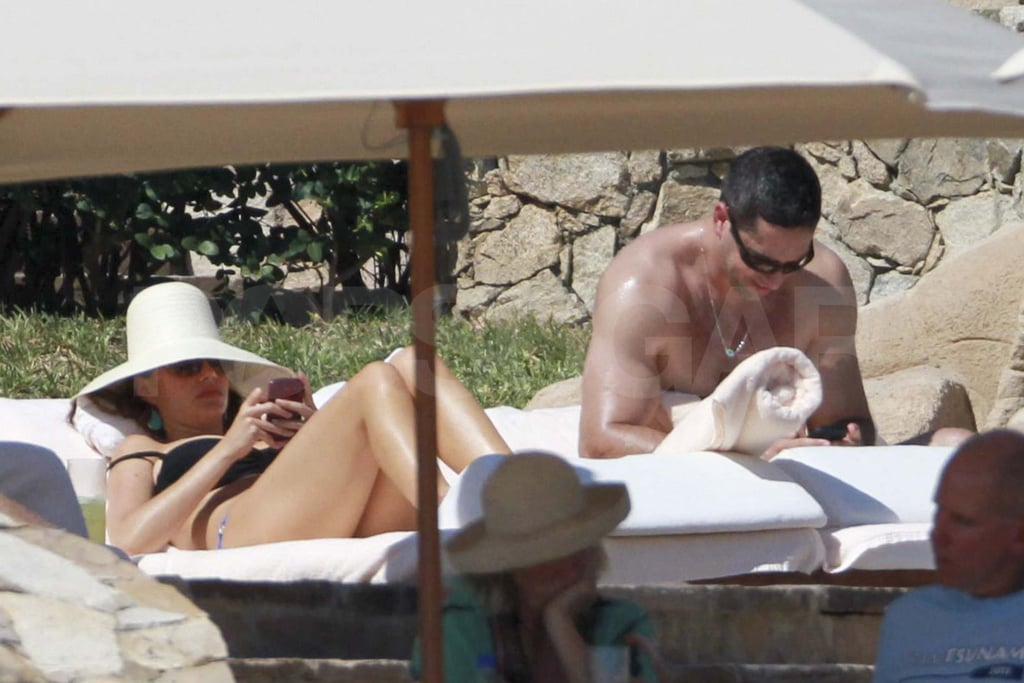 Sofia Vergara in a bikini with shirtless Nick Loeb.