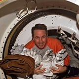 Space Shuttle Discovery Crew Work Aboard the ISS