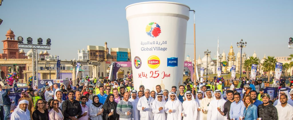 Biggest Cup of Hot Tea Poured Guinness World Record Dubai