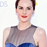 Michelle Dockery wore her hair up for the Emmys.