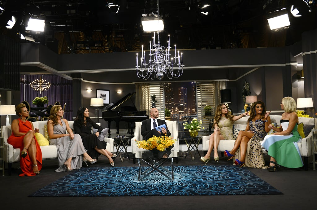 "The reunion special actually ended on quite a sweet note (we don't really know how they got there and assume a lot of it was edited out), with host Alex saying, ""I don't drink, but I actually may right now."" And with that, The Real Housewives of Melbourne came to an end for 2014 — don't forget it's coming back in 2015! If you have experienced any kind of online bullying, contact the National Centre Against Bullying, or if you'd like to talk to someone, call Lifeline on 13 11 14. Source: Martin Philbey / Foxtel"