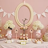 Little Pink Birdies Backdrop