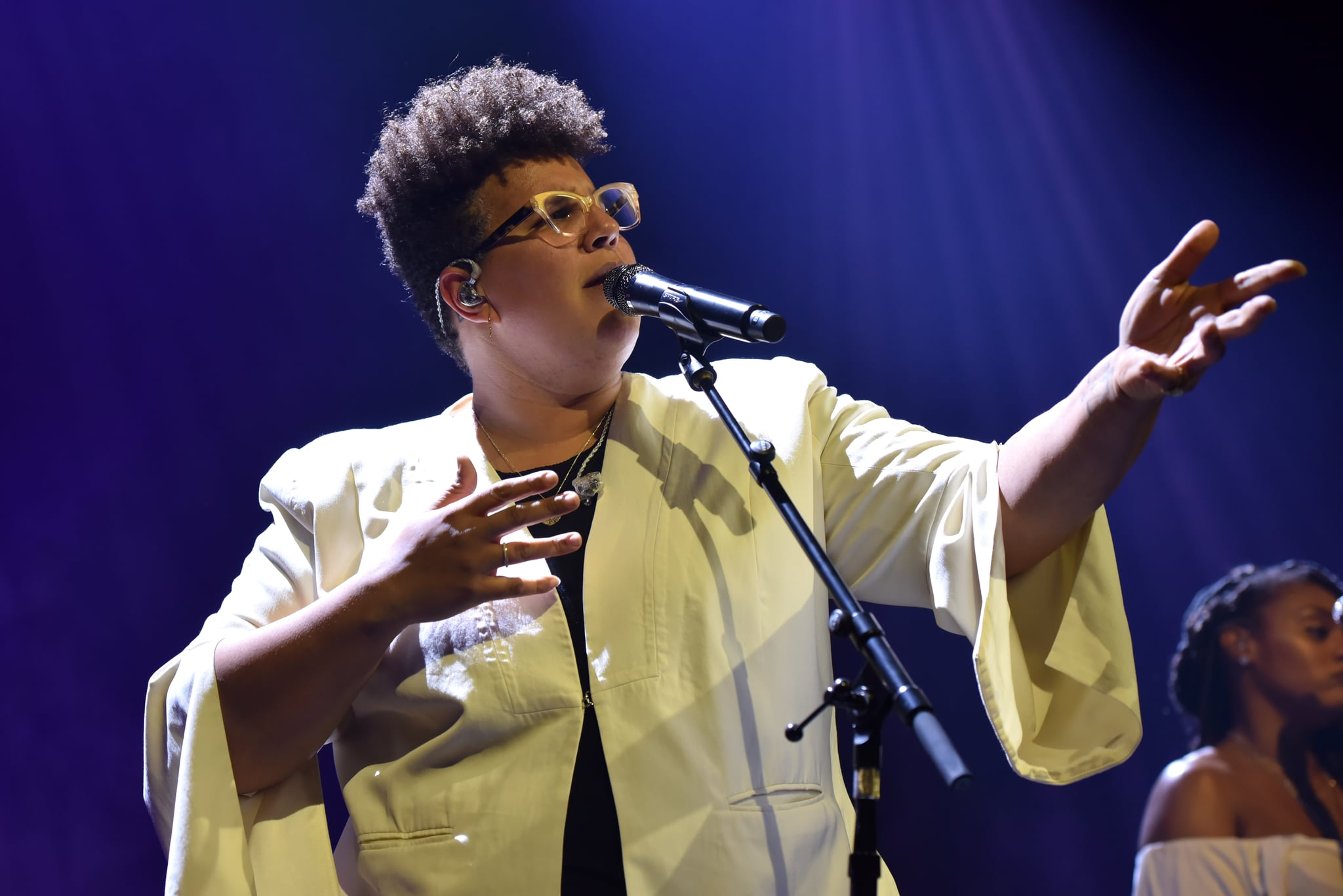LONDON, ENGLAND - MARCH 10: Brittany Howard performs on stage at the O2 Kentish Town Forum on March 10, 2020 in London, England. (Photo by C Brandon/Redferns)