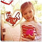 Harper Smith was full of hearts on Valentine's Day! Source: Instagram user tathiessen