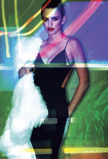 She channeled a Robert Palmer video vixen in V magazine's 2011 Transformation issue. Source: V Magazine