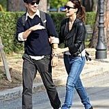 Olivia Wilde and Jason Sudeikis had a laugh together while on a walk.