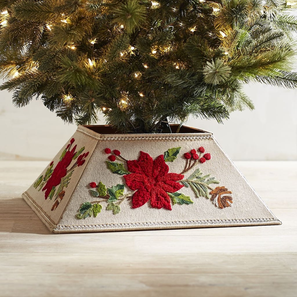 Embroidered Poinsettia Tree Collar ($100)