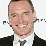 Michael Fassbender showed off his million-dollar grin.
