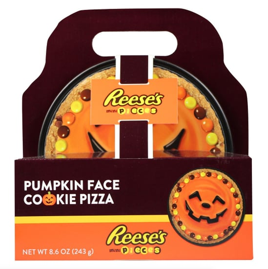 Reese's Pieces Pumpkin Face Cookie Pizza