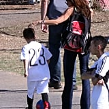 Victoria Cheers on Romeo as Brooklyn Supports Dad David on the Field