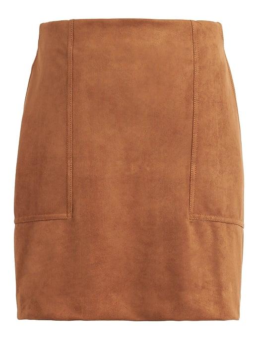 Vegan Suede Mini Skirt ($99)