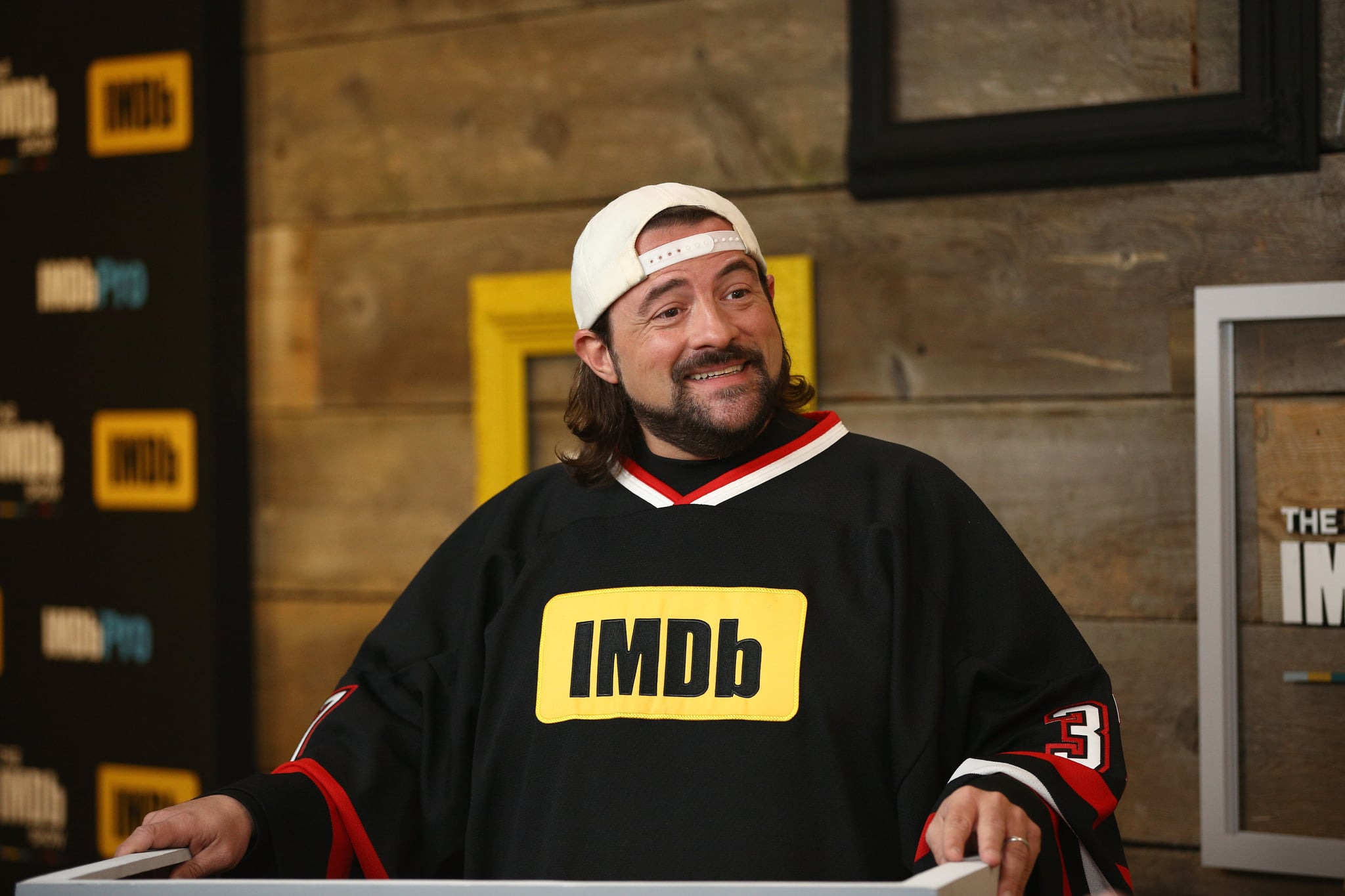 PARK CITY, UT - JANUARY 20:  Host Kevin Smith attends The IMDb Studio and The IMDb Show on Location at The Sundance Film Festival on January 20, 2018 in Park City, Utah.  (Photo by Rich Polk/Getty Images for IMDb)