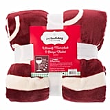 "Pet Holiday ""Drink Wine & Pet My Dog"" Pet Throw Blanket ($30)"
