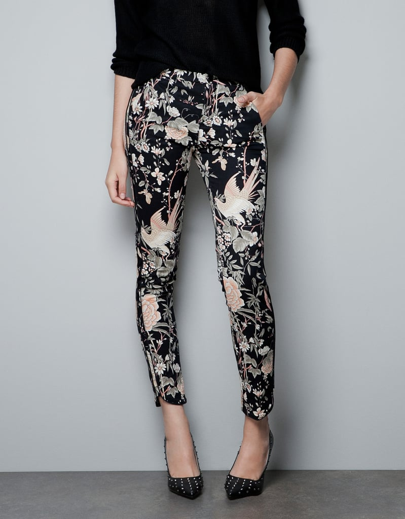 Take on two trends at once with Zara's Oriental Print Trousers ($60).