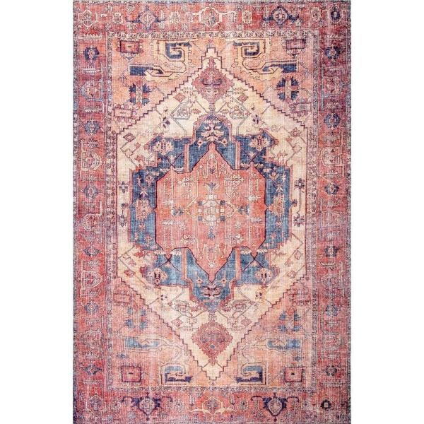 nuLOOM Quinne Oriental Persian Peach 8 ft. x 10 ft. Area Rug