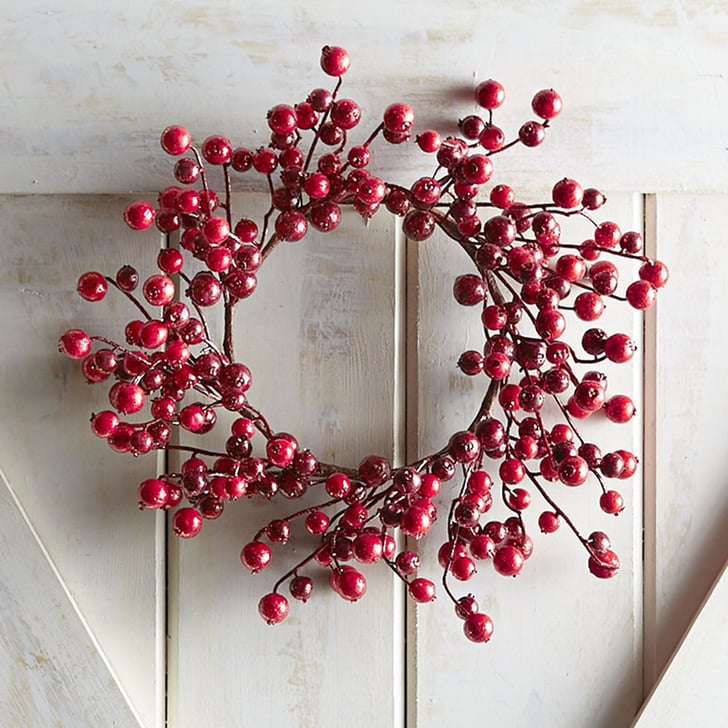 Red Glitter Berry Mini Wreath Cheap Christmas Decorations Popsugar Smart Living