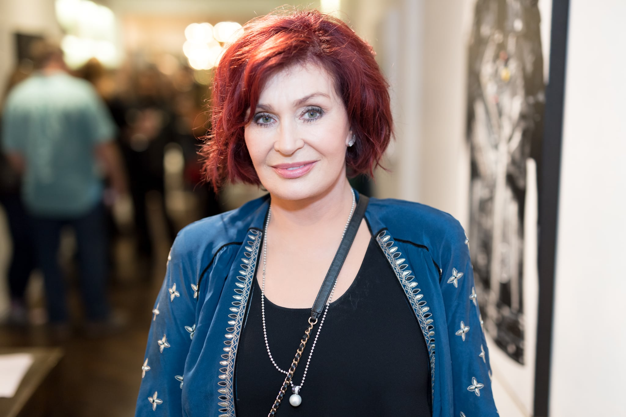 LOS ANGELES, CA - SEPTEMBER 28: (EXCLUSIVE COVERAGE)  Sharon Osbourne attends the Billy Morrison - Aude Somnia Solo Exhibition at Elisabeth Weinstock on September 28, 2017 in Los Angeles, California.  (Photo by Greg Doherty/Getty Images)