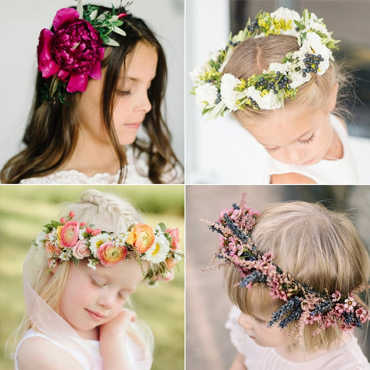 Wedding Flower Crown Ideas For Flower Girls  018ce8f4f24