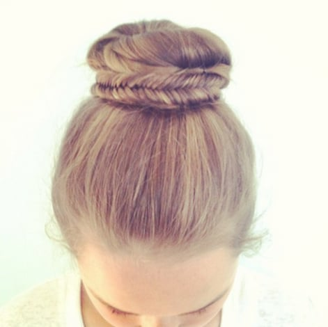 Fishtail-Braided Bun