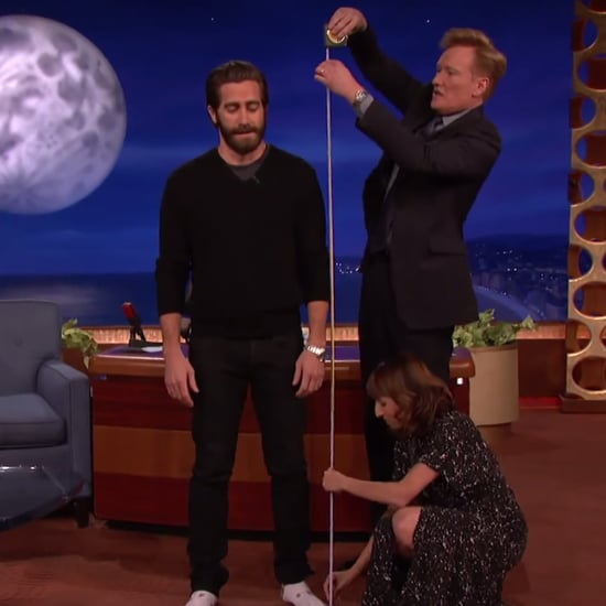 Jake Gyllenhaal Gets Measured on Conan
