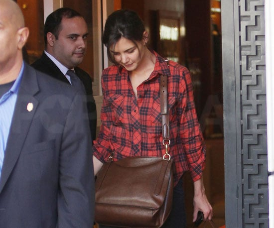 Slide Photo of Katie Holmes Leaving Hermes in LA